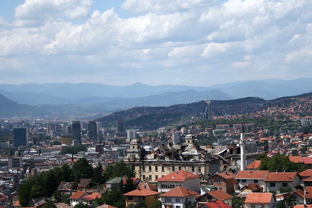 Saraybosna Gezi Notları - Saraybosna'nın tepeden görünüşü