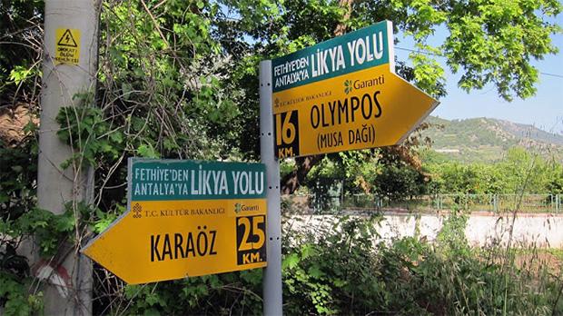 Adrasan - Karaöz yol ayrımı (foto: likyayolu.org)