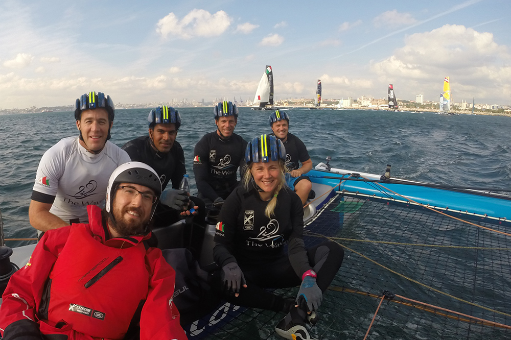 Extreme Sailing Series İstanbul 2015 - The Wave Muscat ekibiyle